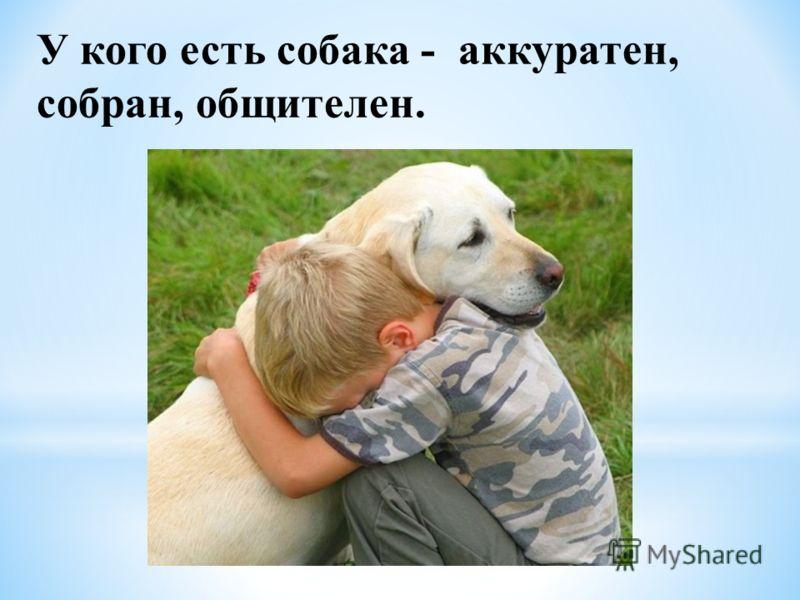 У кого есть собака - аккуратен, собран, общителен.