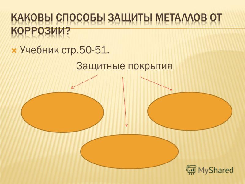 Учебник стр.50-51. Защитные покрытия