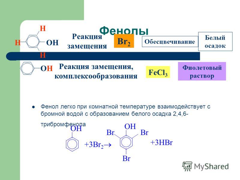 Многоатомные спирты В отличие от алканолов, многоатомные спирты взаимодействуют с гидроксидами тяжелых металлов. Нерастворимый в воде Cu(OH) 2 голубого цвета растворяется в глицерине с образованием ярко-синего раствора глицерата меди (II). -C-O|H-C-O