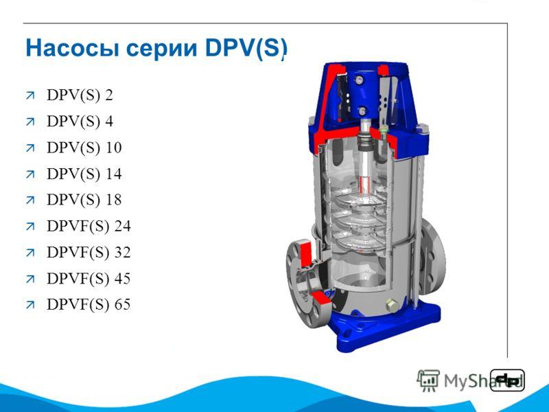 Насосы серии DPV(S) DPV(S) 2 DPV(S) 4 DPV(S) 10 DPV(S) 14 DPV(S) 18 DPVF(S) 24 DPVF(S) 32 DPVF(S) 45 DPVF(S) 65