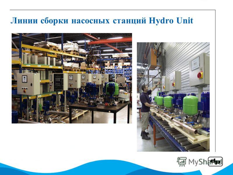 Линии сборки насосных станций Hydro Unit
