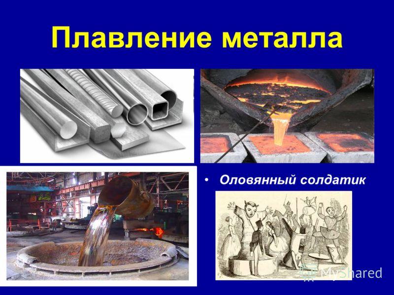 Плавление металла Оловянный солдатик