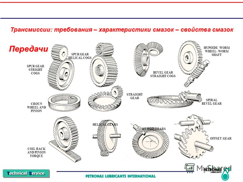 Technical Service Передачи HELICAL GEARS HYPOID GEARS SPUR GEAR STRIGHT COGS SPUR GEAR HELICAL COGS BEVEL GEAR STRAIGHT COGS HYPOIDE WORM WHEEL- WORM SHAFT CROUN WHEEL AND PINION STRAIGHT GEAR SPIRAL BEVEL GEAR COIL RACK AND PINION TORQUE OFFSET GEAR