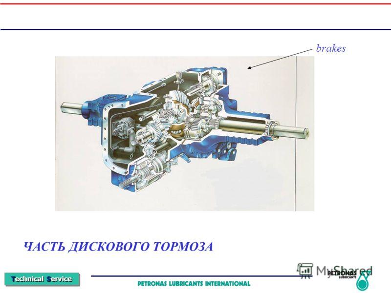 Technical Service ЧАСТЬ ДИСКОВОГО ТОРМОЗА brakes
