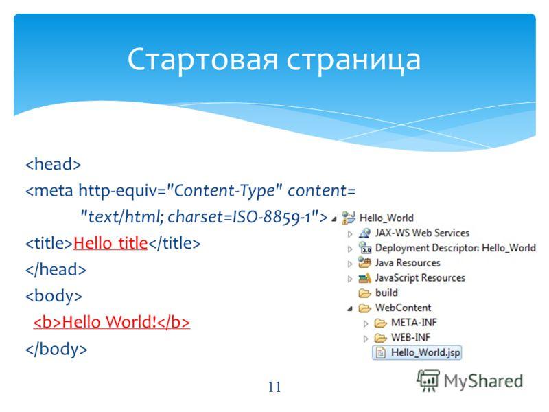 Hello title Hello World! Стартовая страница 11