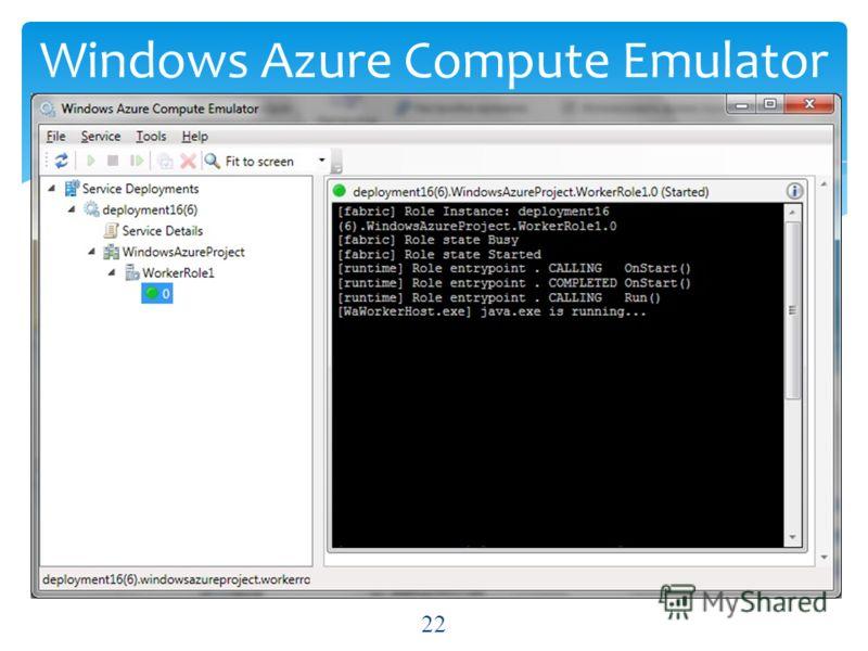 Windows Azure Compute Emulator 22