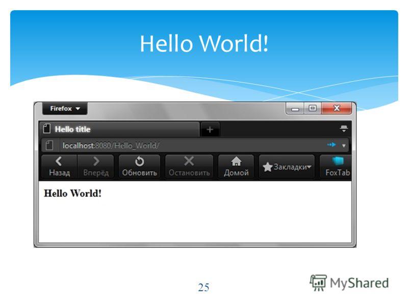 Hello World! 25
