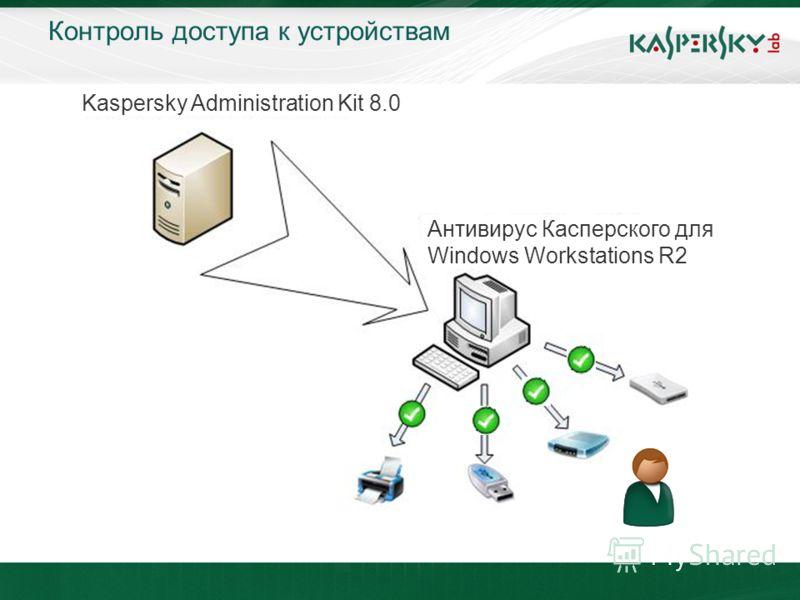 Контроль доступа к устройствам Kaspersky Administration Kit 8.0 Антивирус Касперского для Windows Workstations R2
