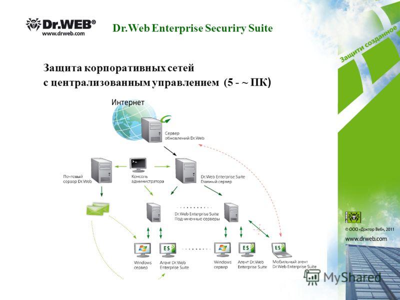 Защита корпоративных сетей с централизованным управлением (5 - ~ ПК ) Dr.Web Enterprise Securiry Suite