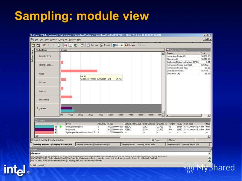 Sampling: module view