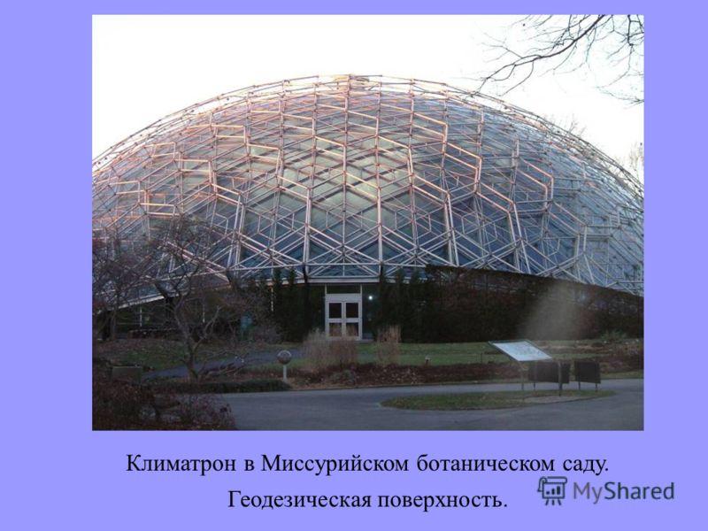 Климатрон в Миссурийском ботаническом саду. Геодезическая поверхность.