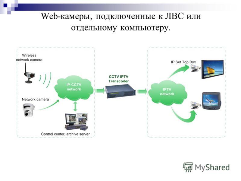 Web-камеры, подключенные к ЛВС или отдельному компьютеру.