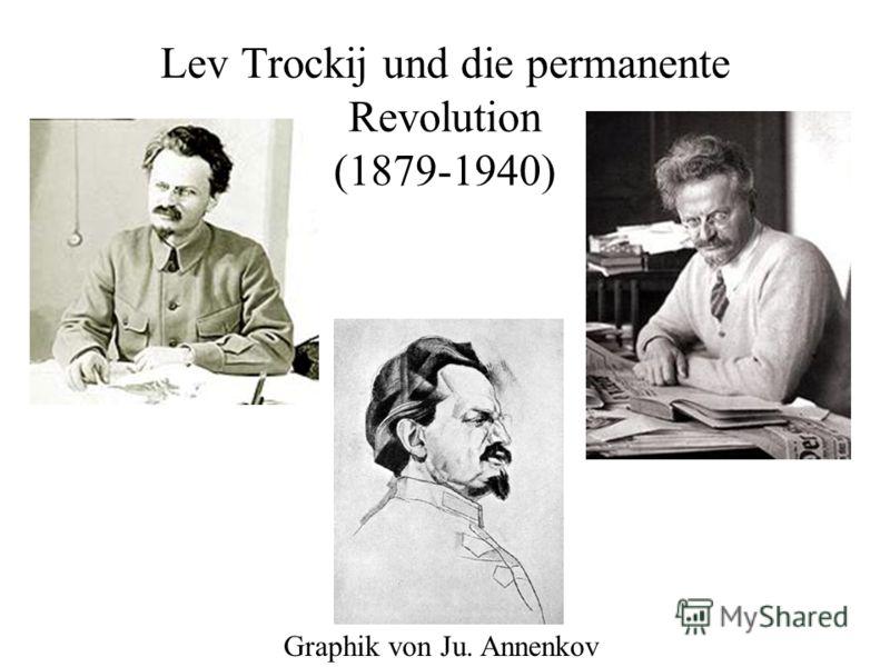 Lev Trockij und die permanente Revolution (1879-1940) Graphik von Ju. Annenkov