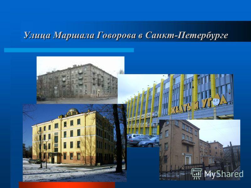 Улица Маршала Говорова в Санкт-Петербурге