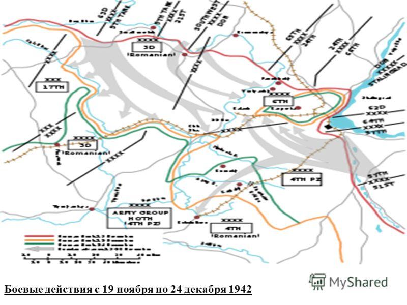 Боевые действия с 19 ноября по 24 декабря 1942
