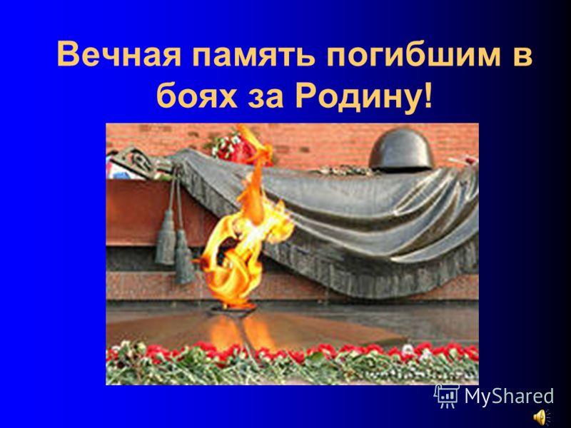 Вечная память погибшим в боях за Родину!