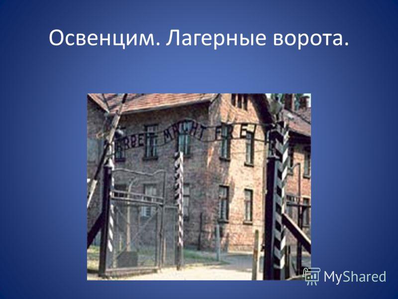 Освенцим. Лагерные ворота.