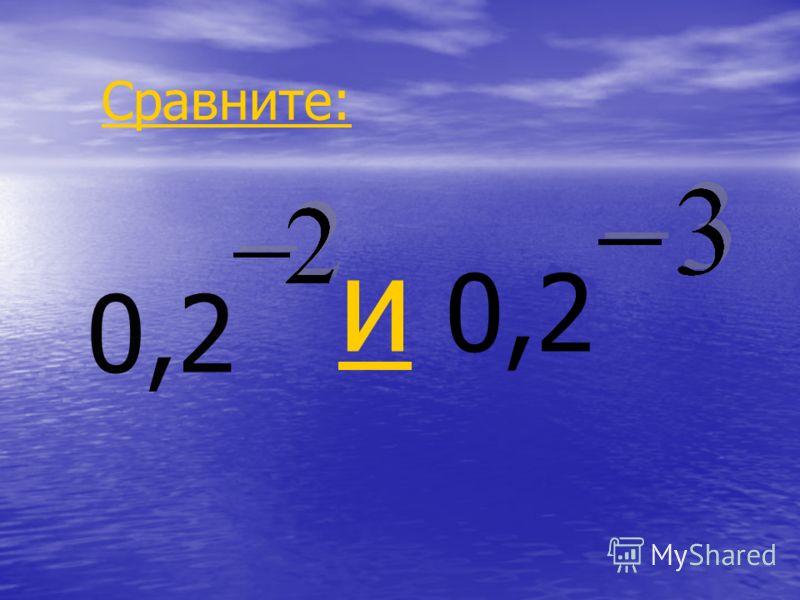 0,2 и и 0,2 Сравните: