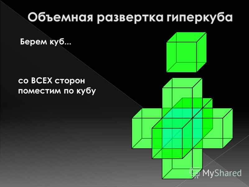 Берем куб... со ВСЕХ сторон поместим по кубу