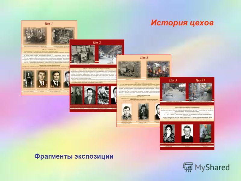 История цехов Фрагменты экспозиции