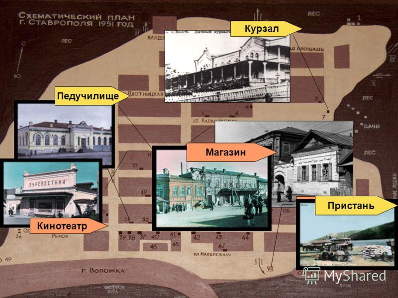 Почта Курзал Педучилище Кинотеатр Пристань Магазин