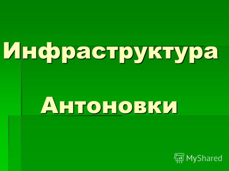 Инфраструктура Антоновки