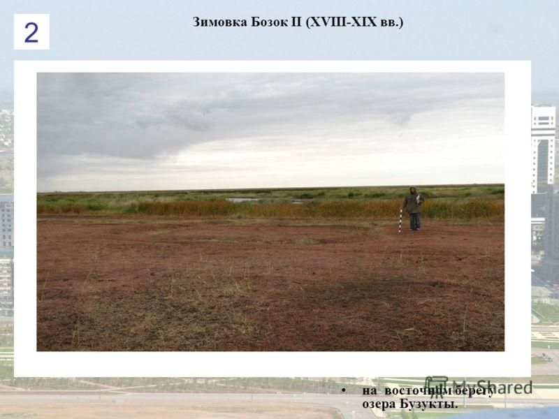Зимовка Бозок ІІ (XVIII-XIX вв.) на восточном берегу озера Бузукты. 2