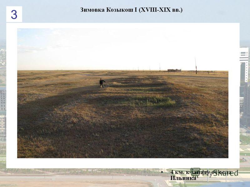 Зимовка Козыкош І (XVIII-XIX вв.) 4 км. к западу от села Ильинка 3