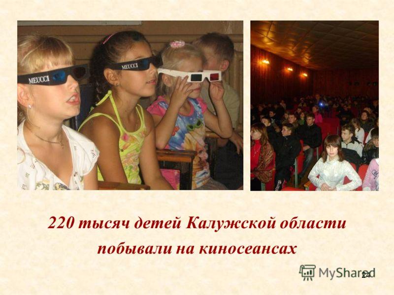 24 220 тысяч детей Калужской области побывали на киносеансах