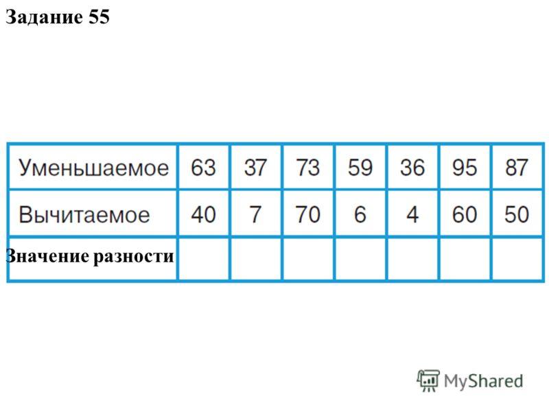 Задание 55 Значение разности