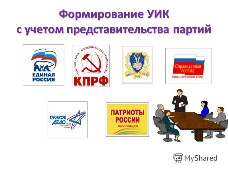 Формирование УИК с учетом представительства партий