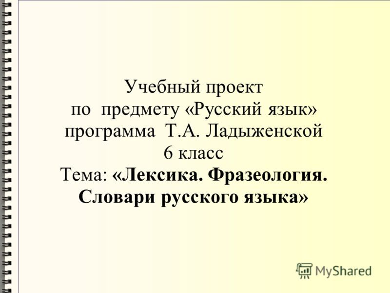 Программа ладыженской русский язык