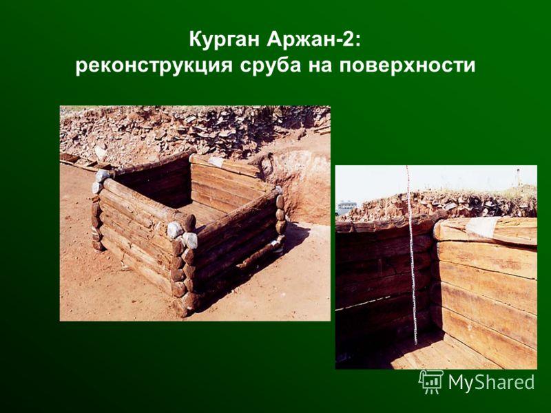 Курган Аржан-2: реконструкция сруба на поверхности