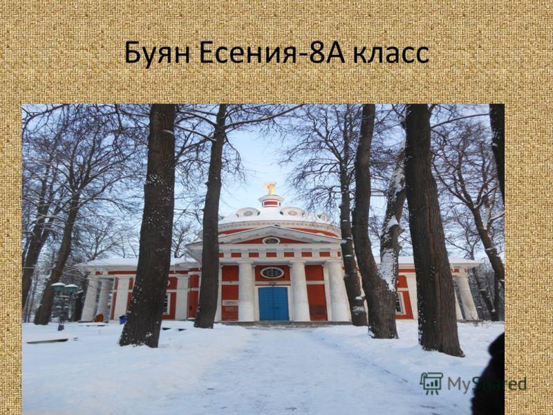 Буян Есения-8А класс
