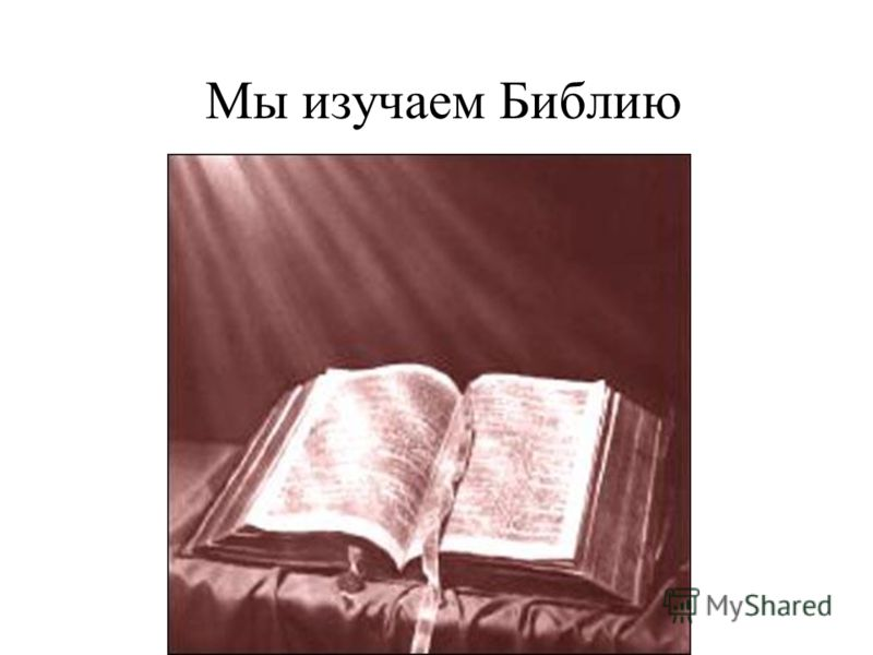Мы изучаем Библию