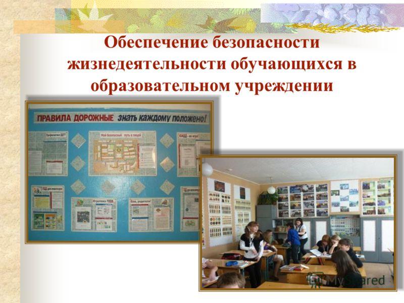 Обеспечение безопасности жизнедеятельности обучающихся в образовательном учреждении