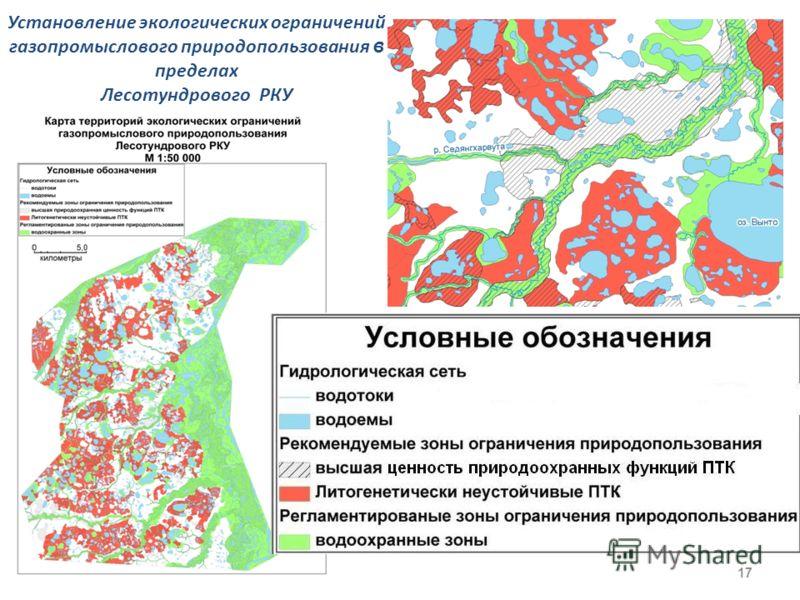 17 Установление экологических ограничений газопромыслового природопользования в пределах Лесотундрового РКУ