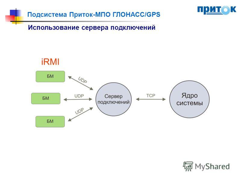 Подсистема Приток-МПО ГЛОНАСС/GPS Использование сервера подключений