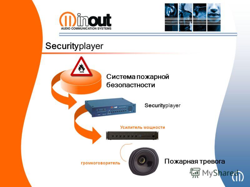 Securityplayer Система пожарной безопастности Пожарная тревога Усилитель мощности громкоговоритель Securityplayer