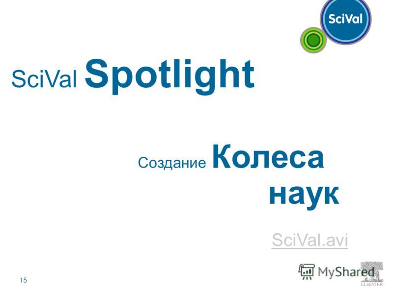 15 Создание Колеса наук SciVal Spotlight SciVal.avi