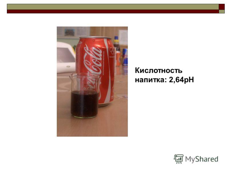 Кислотность напитка: 2,64pH