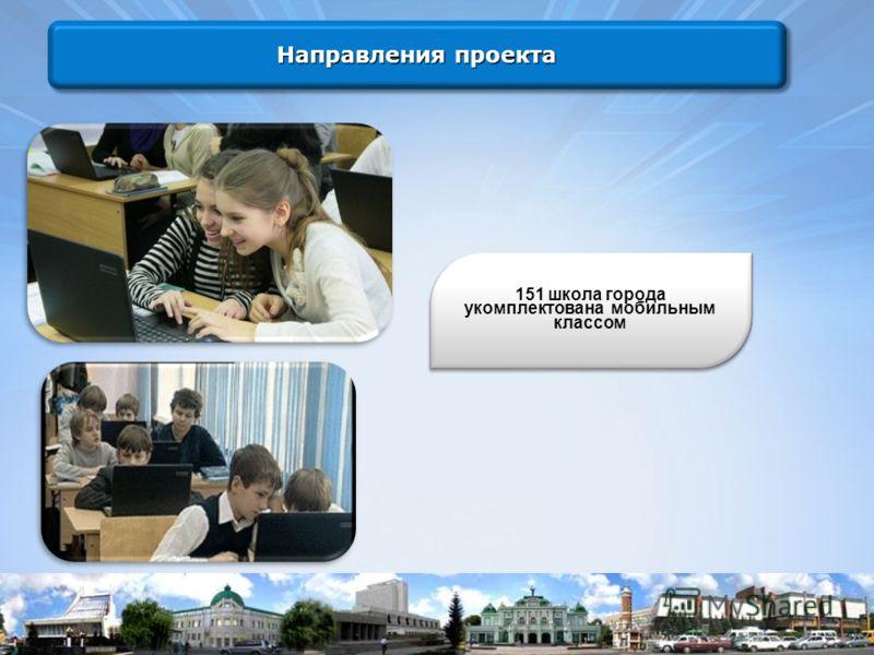151 школа города укомплектована мобильным классом Направления проекта