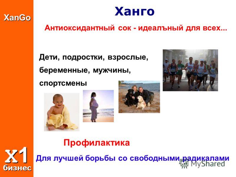 XanGo X1 бизнес Ханго Антиоксидантный сок - идеалъный для всех... Дети, подростки, взрослые, беременные, мужчины, спортсмены Профилактика Для лучшей борьбы со свободными радикалами