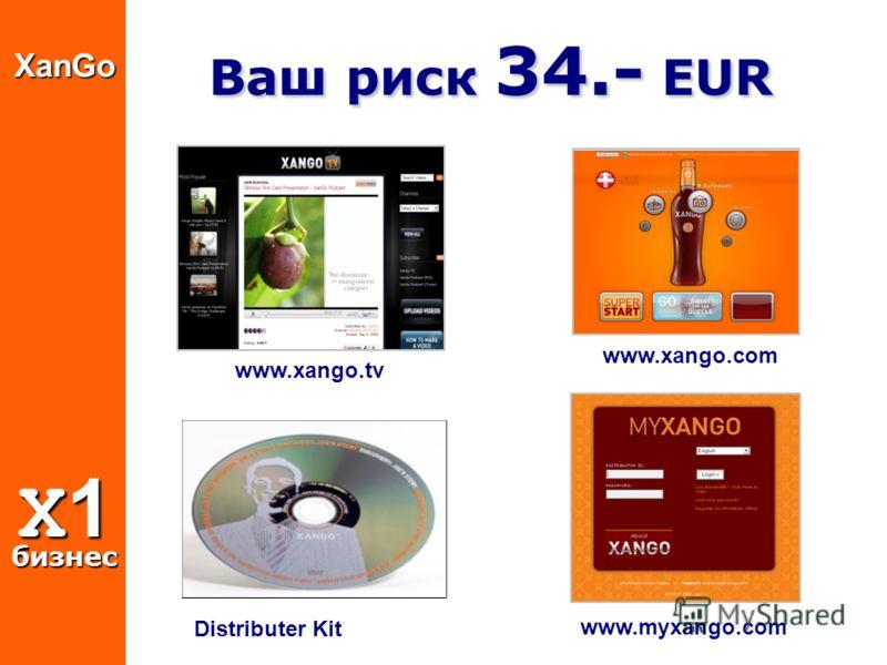 www.xango.com www.myxango.com Distributer KitXanGo X1 бизнес Ваш риск 34.- EUR Ваш риск 34.- EUR www.xango.tv