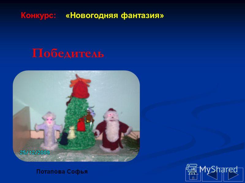 Победитель Потапова Софья Конкурс: «Новогодняя фантазия»
