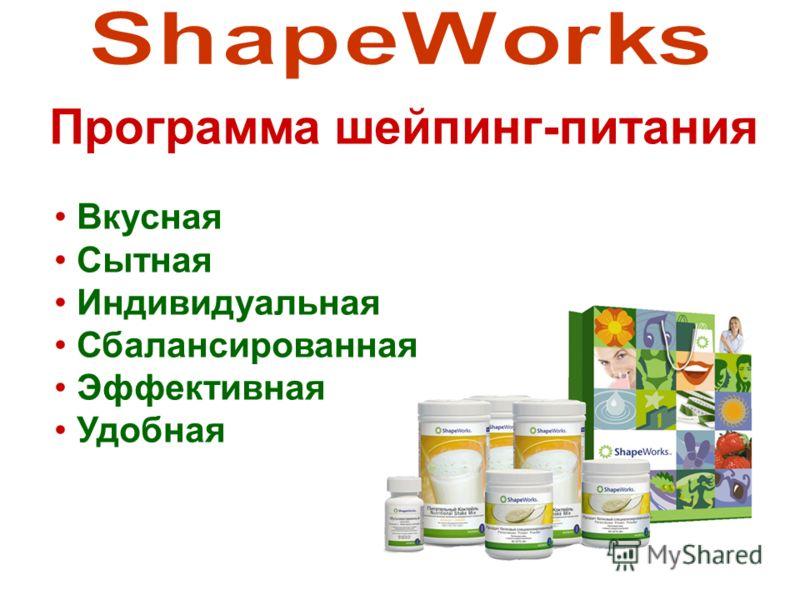 Вкусная Сытная Индивидуальная Сбалансированная Эффективная Удобная Программа шейпинг-питания