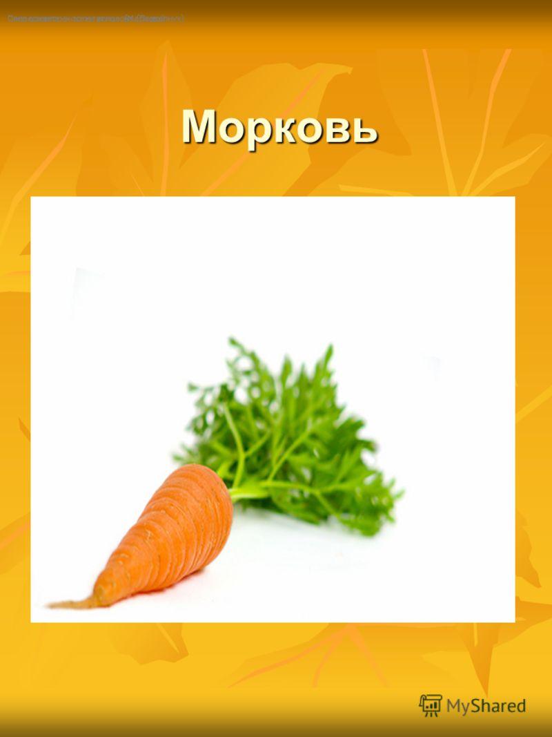 Морковь Морковь Посреди двора - золотая голова. (Подсолнух) Сама в земле - коса на улице. (Морковь)