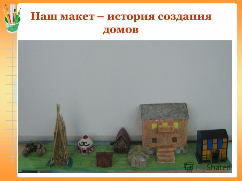 Наш макет – история создания домов