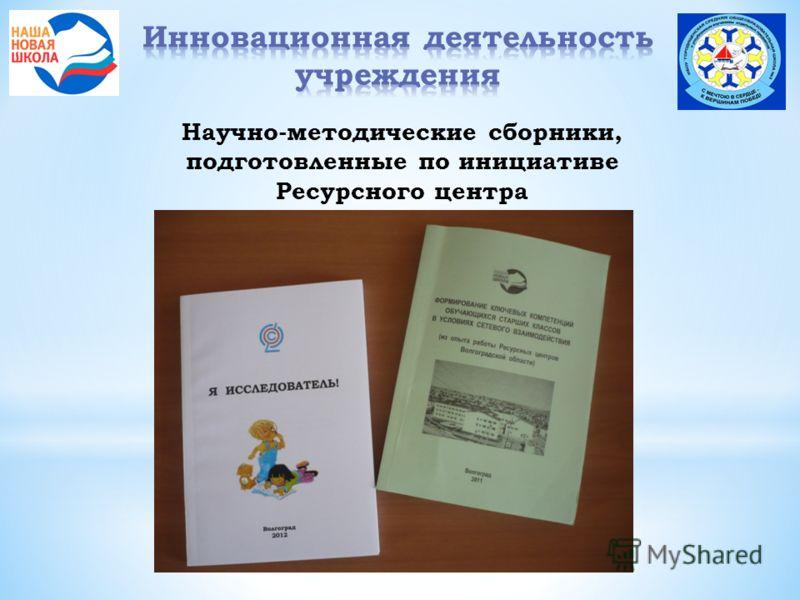 Научно-методические сборники, подготовленные по инициативе Ресурсного центра