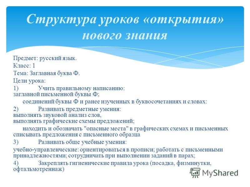 Конспект занятия по русскому языку во вспомогательной школе